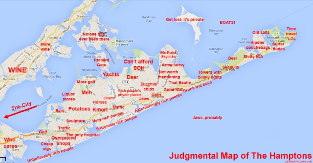 Jugmental map hamptons