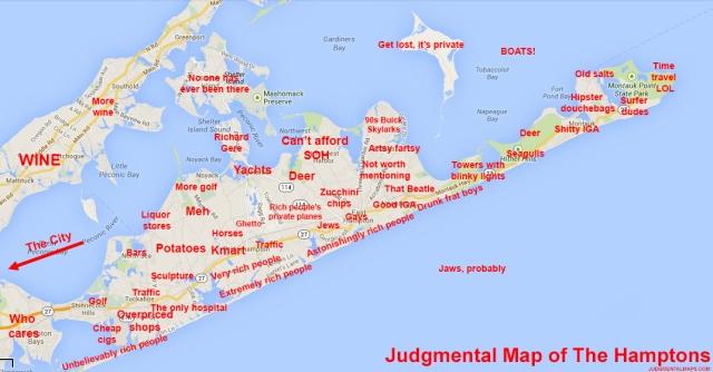 Jugmental map hamptons