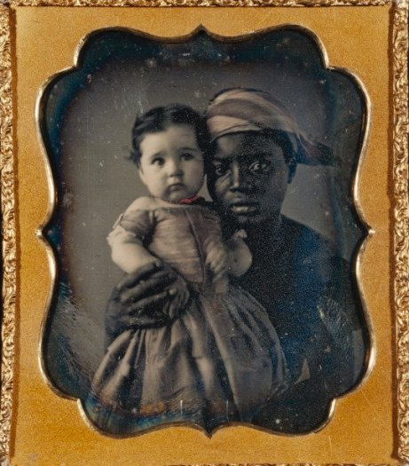 nurse and baby daguerrotype