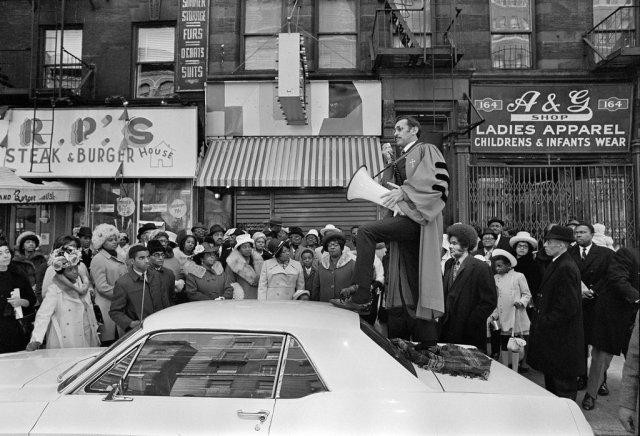 street sermon, harlem, 1964